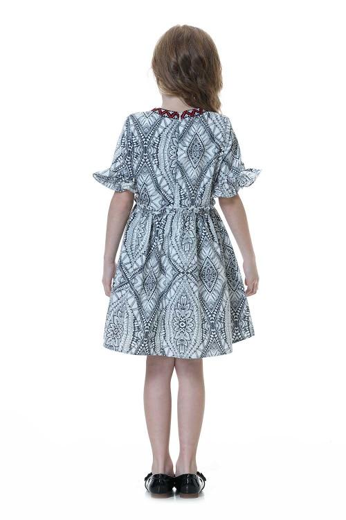 فستان بنات رمادي