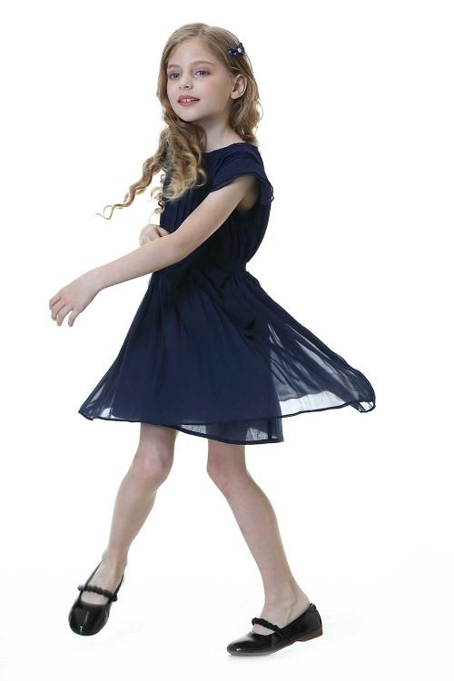 فستان كحلي بناتي