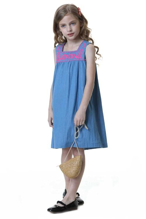 فستان ازرق للبنات