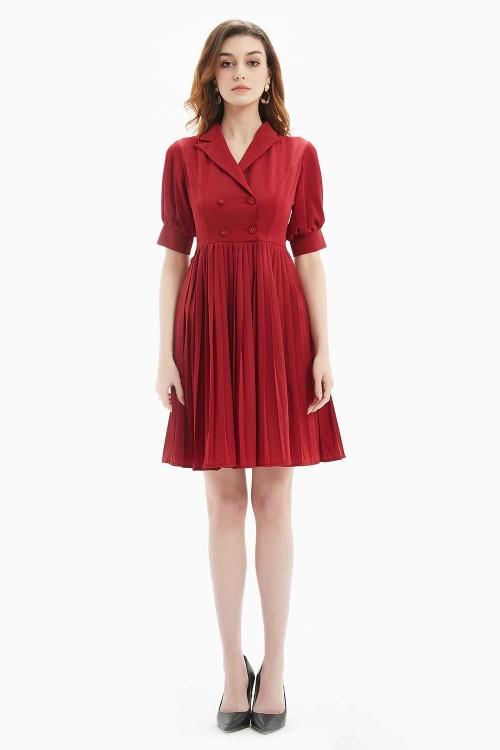 فستان نسائي قصير لون نبيتي