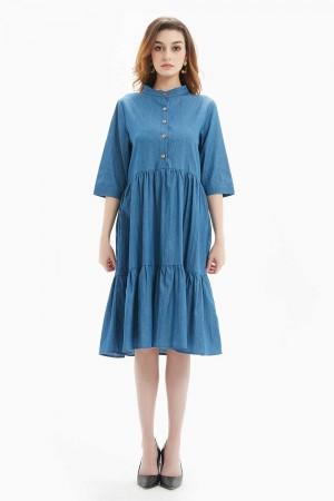 فستان نسائي قصير ازرق فاتح