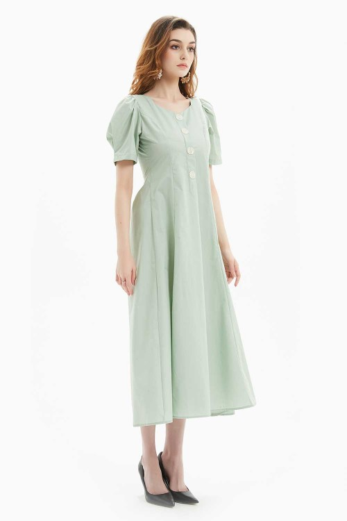 فستان نسائي لون اخضر نعناعي