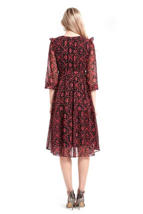 فستان نسائي قصير احمر