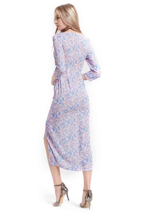 فستان نسائي مفتوح لون وردي
