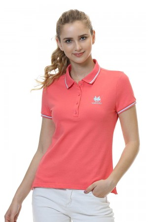 Women Polo Shirt, Orange