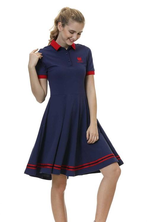 فستان بولو نسائي لون كحلي