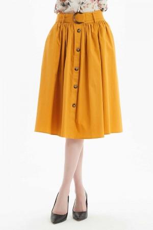 تنورة نسائي قصيرة لون اصفر