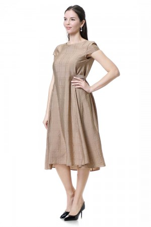 فستان نسائي لون كاكي