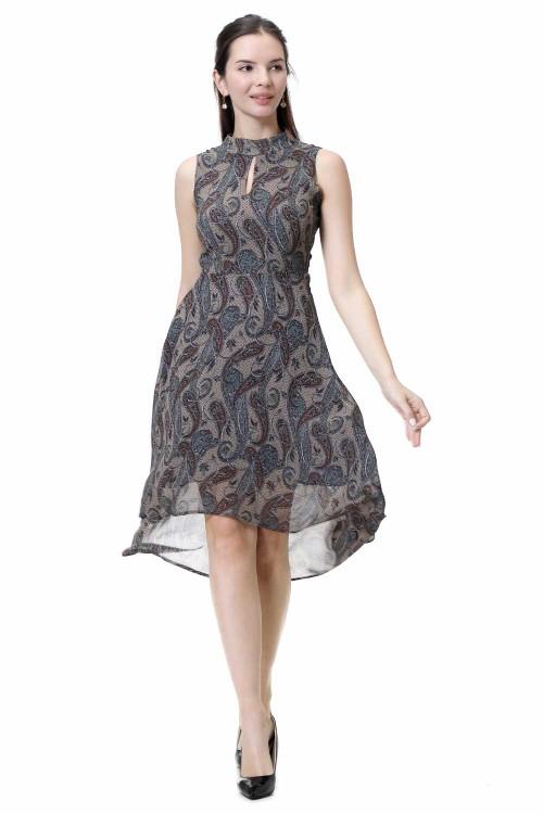 فستان نسائي لون رمادي