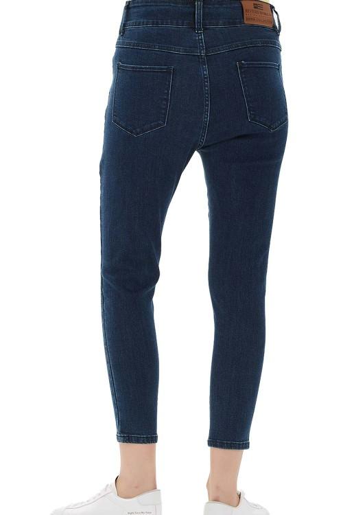 بنطلون جينز نسائي ازرق