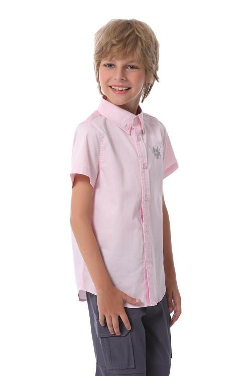 قميص اولاد لون وردي