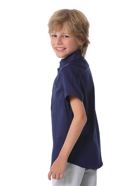 قميص اولاد لون كحلي