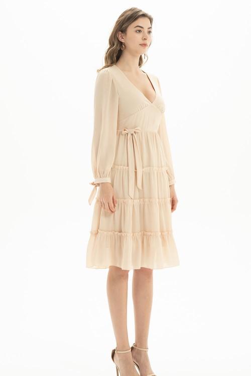 فستان نسائي بيج