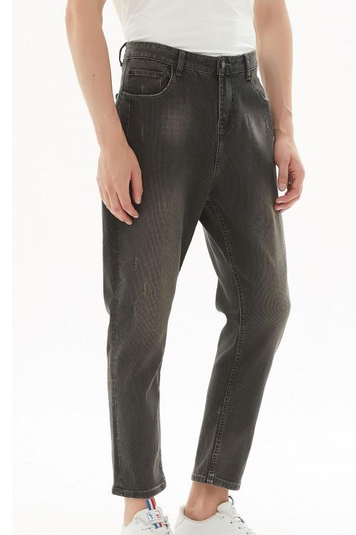بنطلون جينز رجالي لون اسود