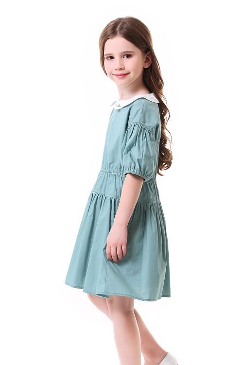 فستان بناتي اخضر