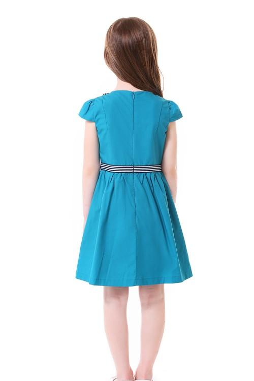 فستان بناتي ازرق