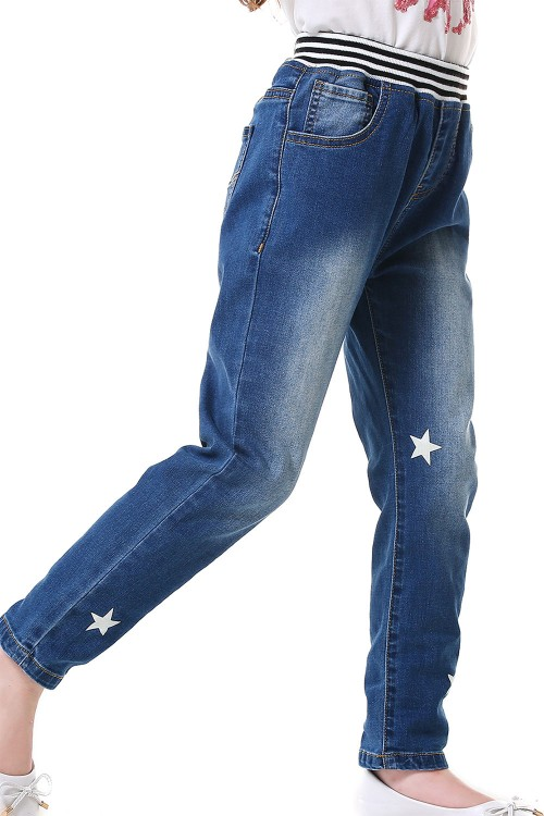 بنطلون جينز بناتي ازرق