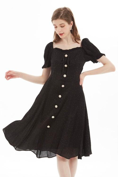 فستان نسائي لون اسود